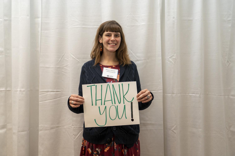 Megan Howard, recipient of the Julie Wegner Aquatic Biology Scholarship