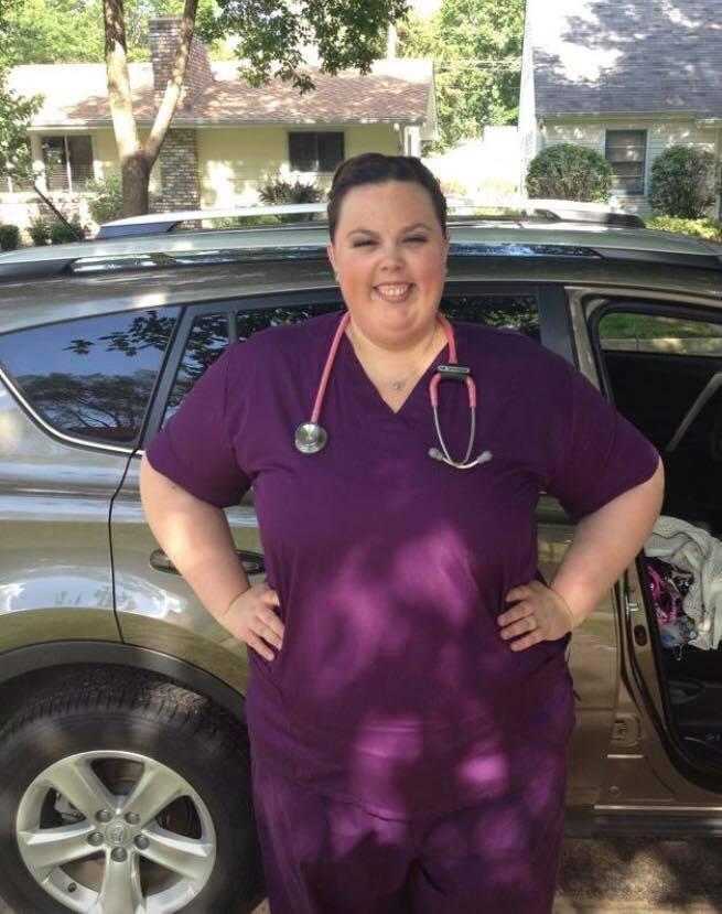 Emily Allen '16, an intensive care nurse at St. Joseph's Hospital in St. Paul