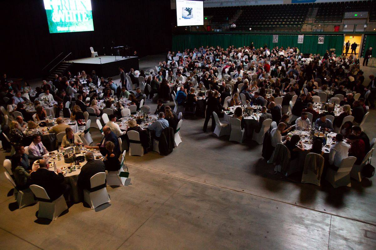 Image of BSU's Green & White fundraising dinner 2018