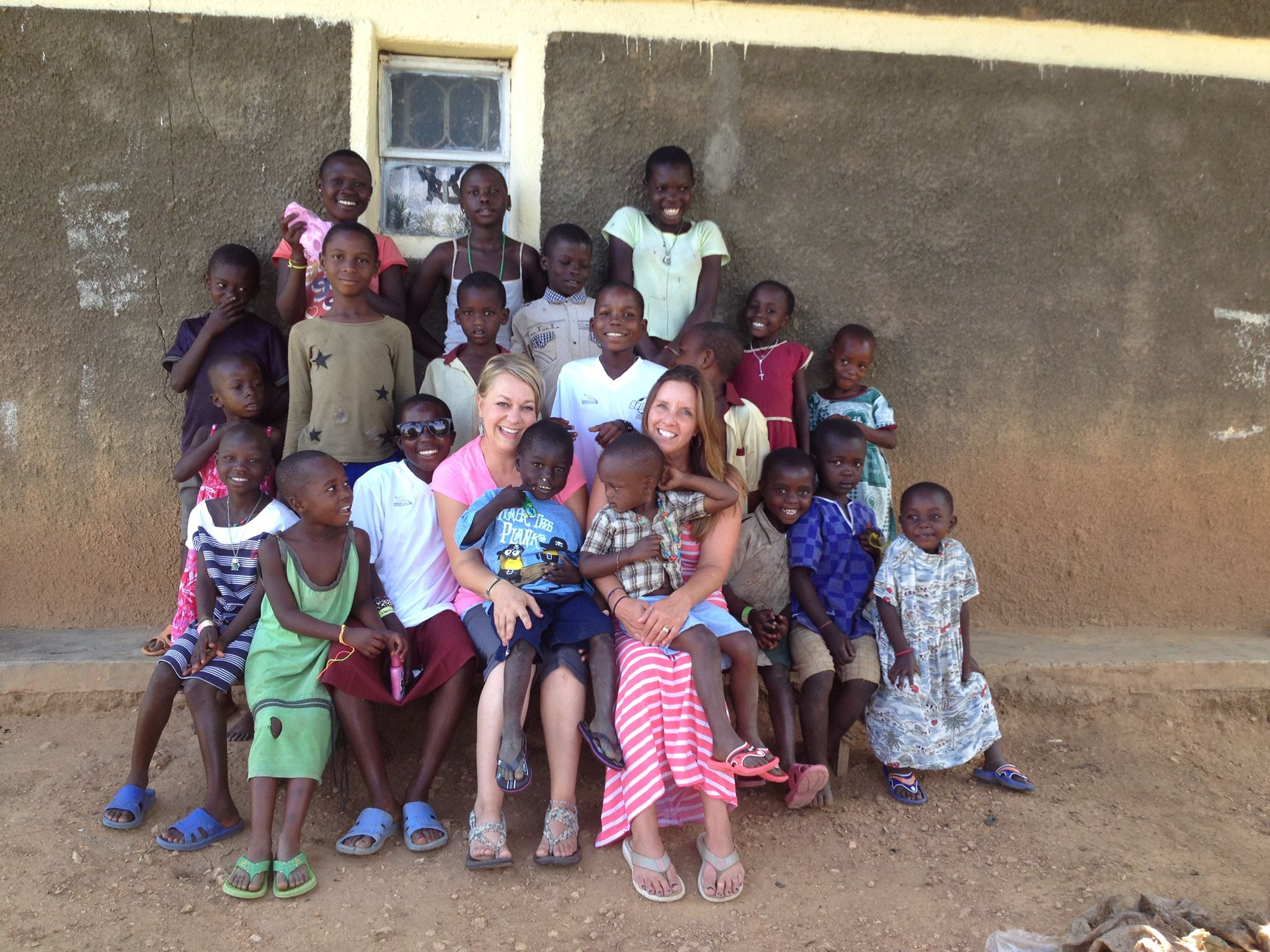 Anderson and Kovach during a recent trip to Uganda
