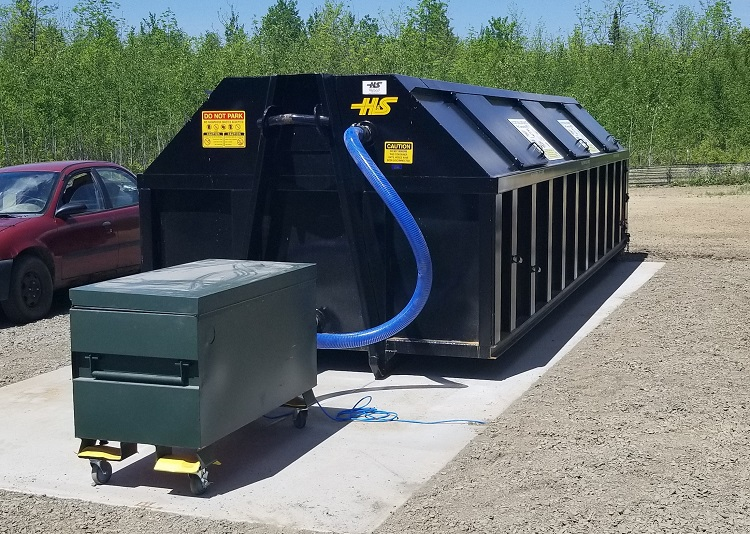 A Beltrami County composting bin