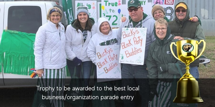 Trophy awarded to best local businessorganization float