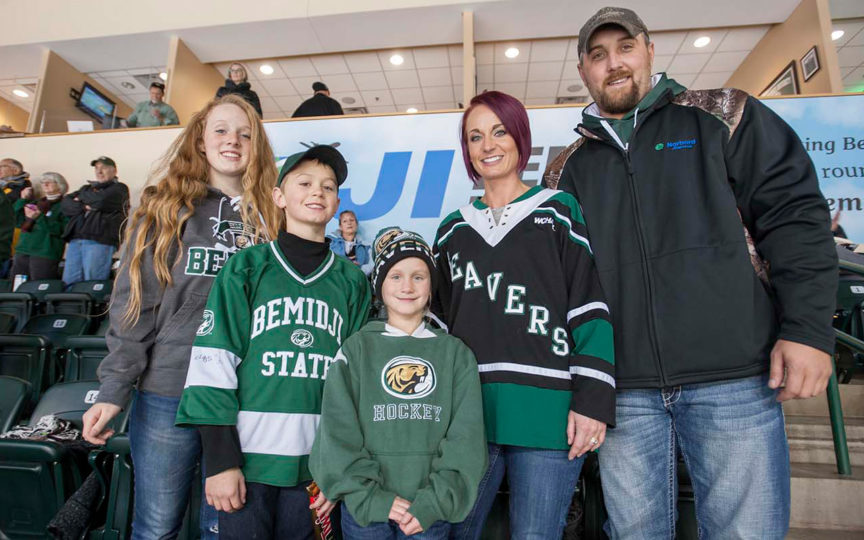 Norbord employee Nick Brown and family